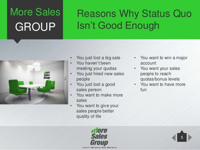 More Sales Group Sales Training Presentation
