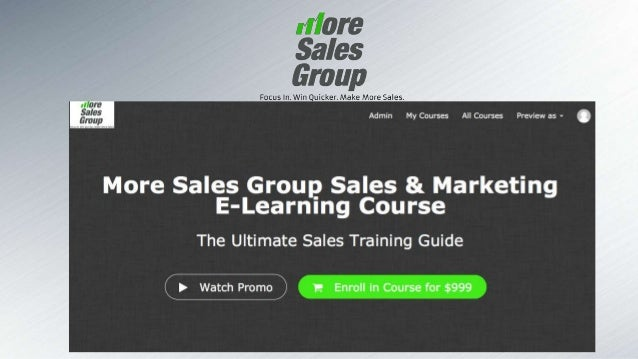 2 More Sales GROUP Overview & Objective