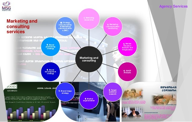 Marketing and consulting  1. Marketing researches  2. Marketing communication monitoring  3. Market Situation Analysis and...