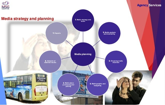 Media planning  1. Media strategy and tactic  2. Media analysis and monitoring  3. Choosing media channels  4. Media graph...