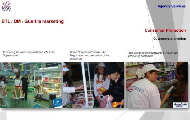 BTL / DM / Guerilla marketing  Consumer Promotion Customers promotion  Promoting the customers of brand VALIO in Supermark...