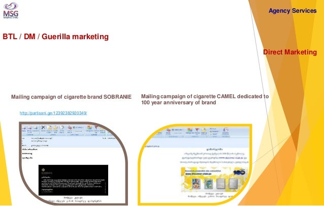 BTL / DM / Guerilla marketing  Direct Marketing  Mailing campaign of cigarette CAMEL dedicated to 100 year anniversary of ...
