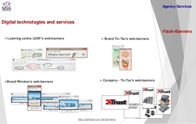 Digital technologies and services  Flash-Banners  Agency Services   Company - Tic-Tac's web-banners  Brand Winston's web...