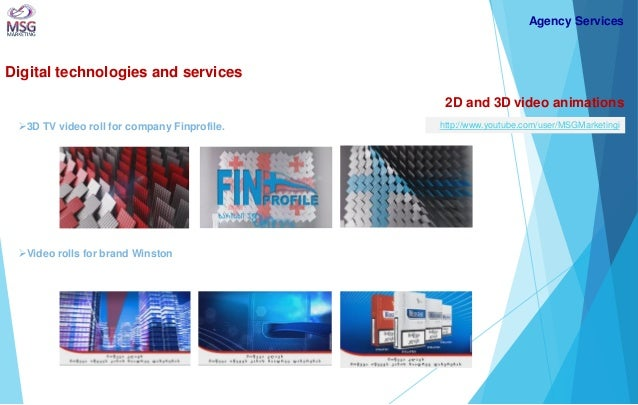Digital technologies and services  2D and 3D video animations  3D TV video roll for company Finprofile.  Agency Services ...