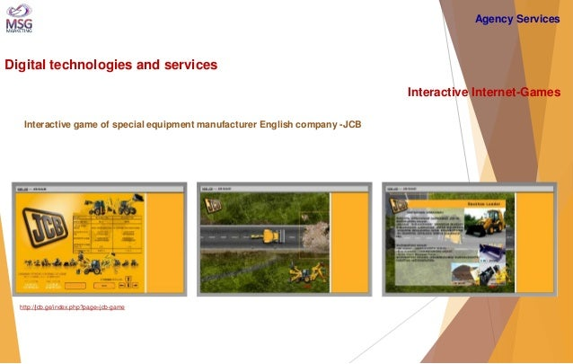 Digital technologies and services  Interactive Internet-Games  Interactive game of special equipment manufacturer English ...