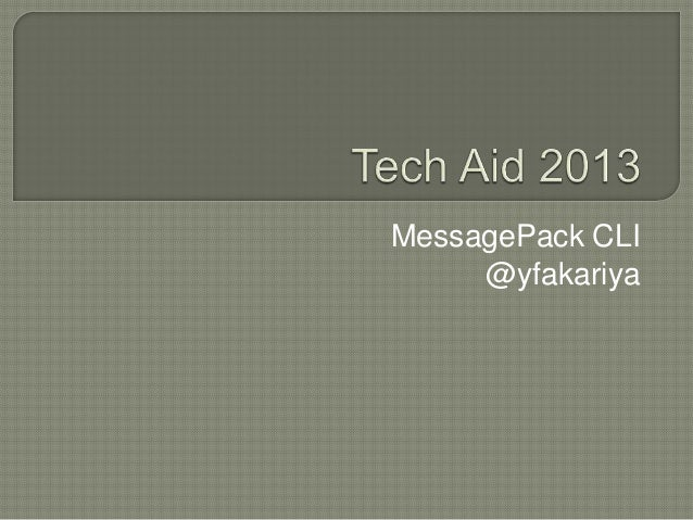 MessagePack CLI @yfakariya