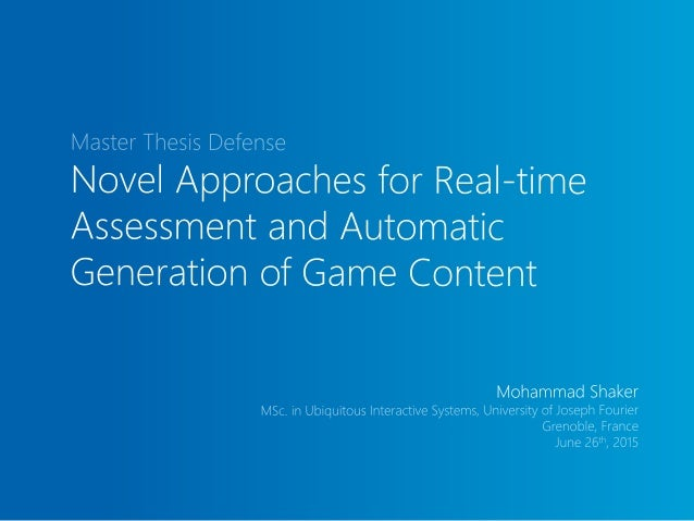 A Progressive Approach for Content Generation of Games A Projection-Based Approach for Real-time Assessment of Physics-bas...