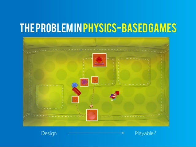 A5secGame A 5*60=300timesteps 5Actions TheProbleminPhysics-basedGames S T A T E S 4.9*10 214