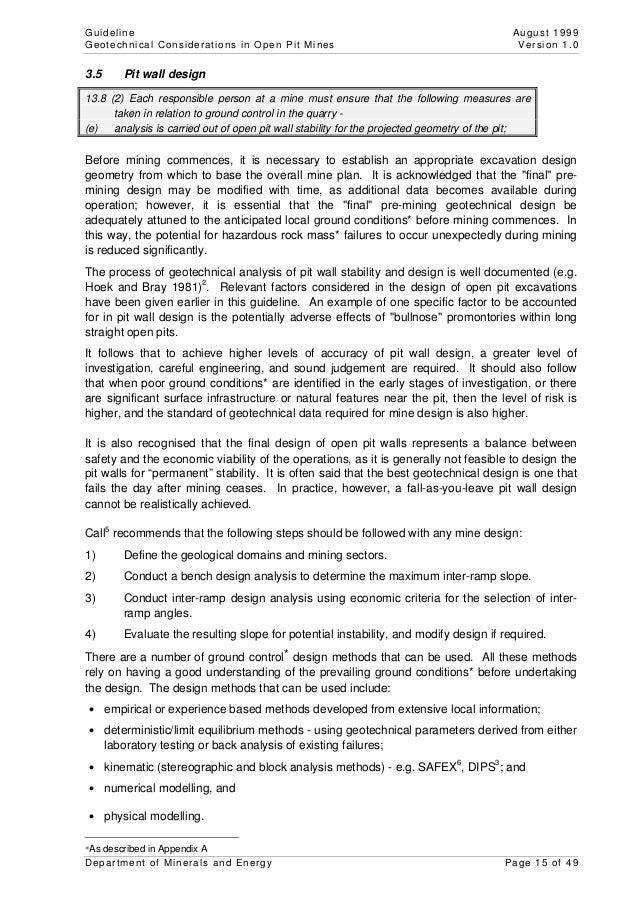 Msh G Geotechnical Considerationsopenpitminespdf