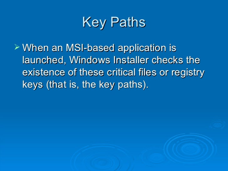 MSI / Windows Installer for NGN 'Dummies'