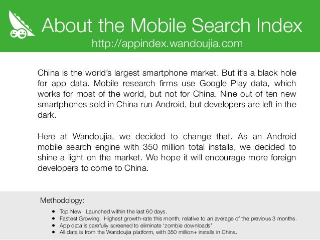 Wandoujia Mobile Search Index: Classic Games Enjoy a ...
