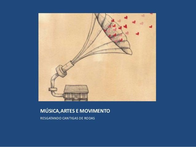 MÚSICA,ARTES E MOVIMENTO RESGATANDO CANTIGAS DE RODAS