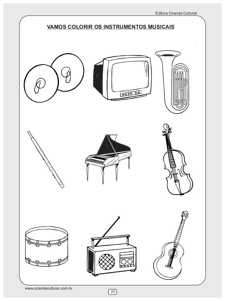 Editora Ciranda Cultural            VAMOS COLORIR OS INSTRUMENTOS MUSICAISwww.cirandacultural.com.br                      ...