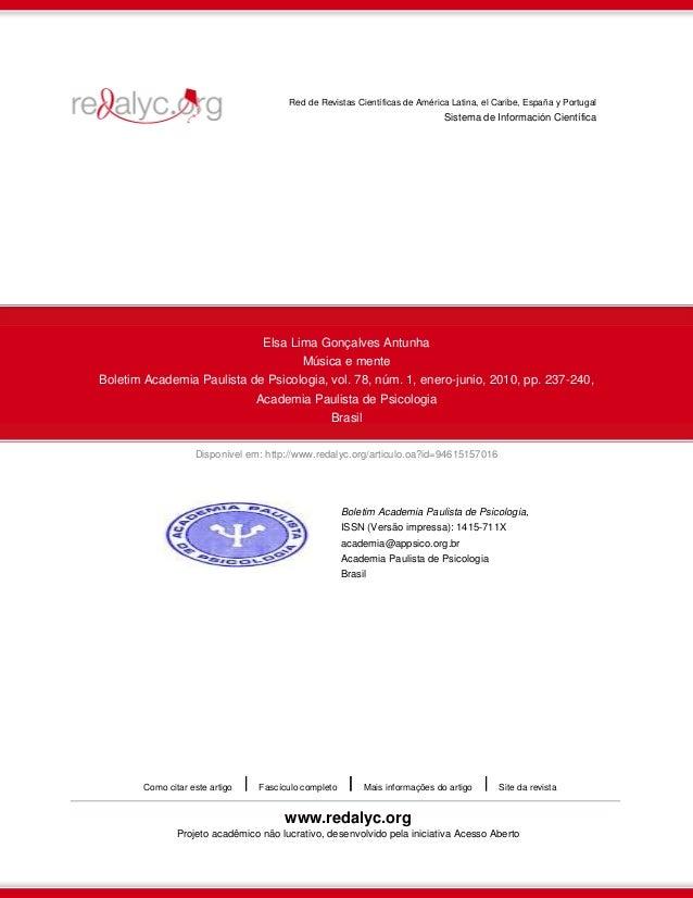 Disponível em: http://www.redalyc.org/articulo.oa?id=94615157016Red de Revistas Científicas de América Latina, el Caribe, ...