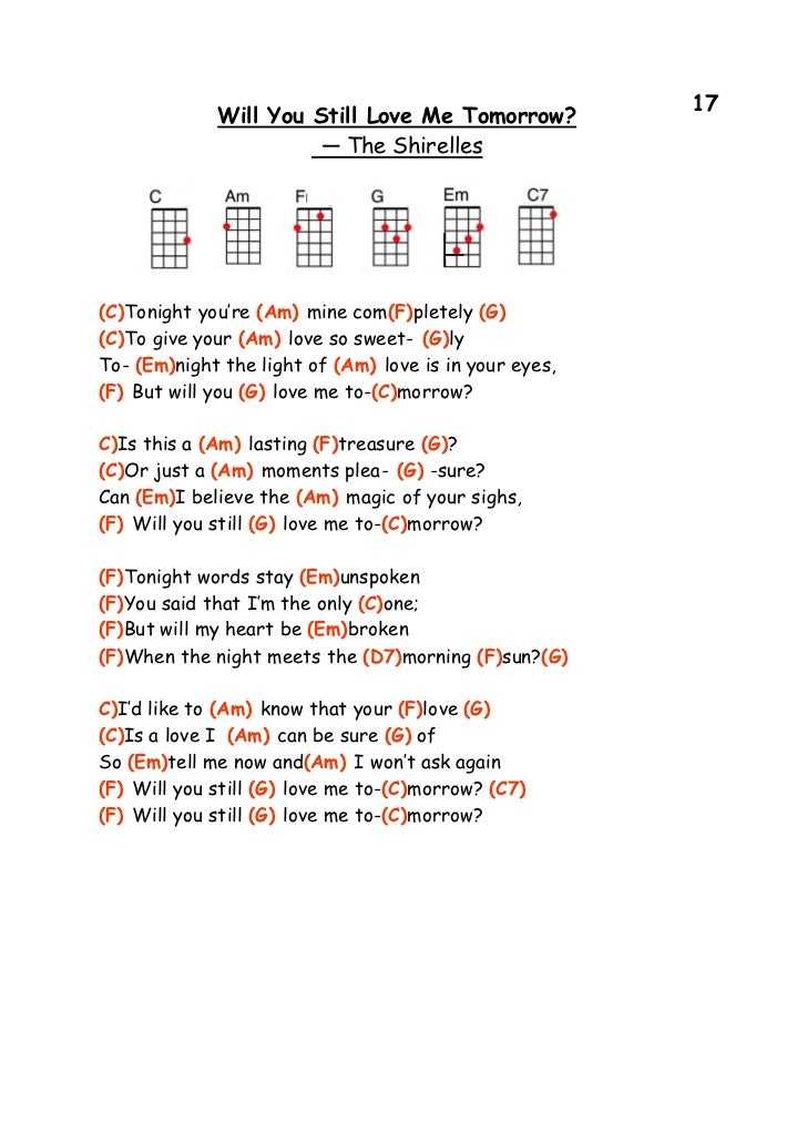 Will You Still Love Me Tomorrow Guitar Chords Choice Image Guitar