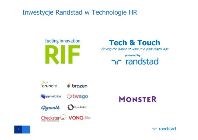 Inwestycje Randstad w Technologie HR 5 Tech & Touch driving the future of work in a post-digital age
