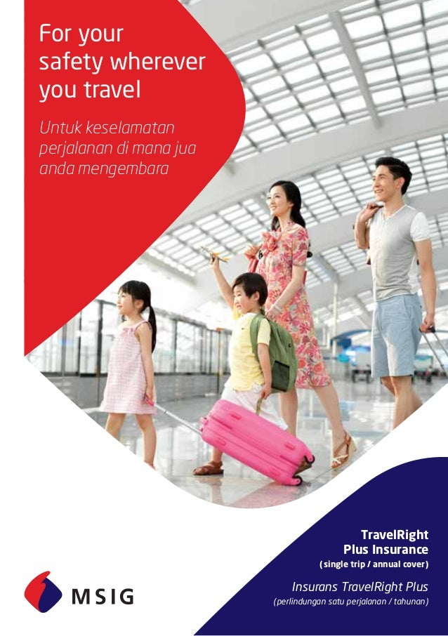Msig Travel Rightplus Travel Insurance Arranged By Acpg Management Sd