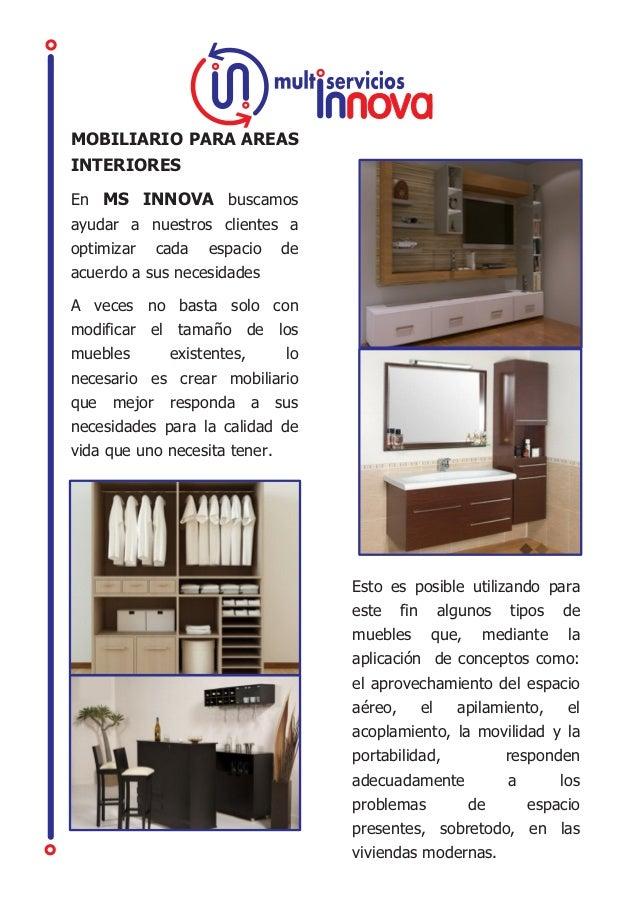 Ms innova soluciones para ambientes de hogar y oficina for Innova muebles