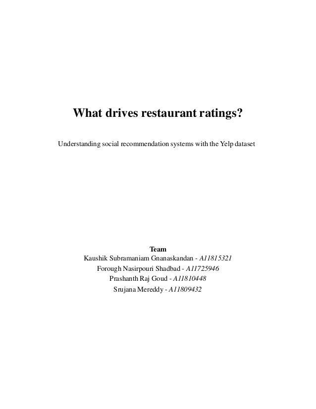 Yelp Data Set Challenge (What drives restaurant ratings?)