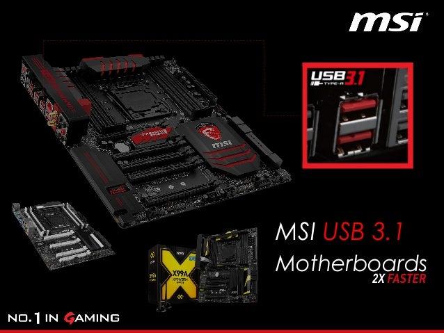 MSI X99S MPOWER ASMEDIA USB 3.1 64X