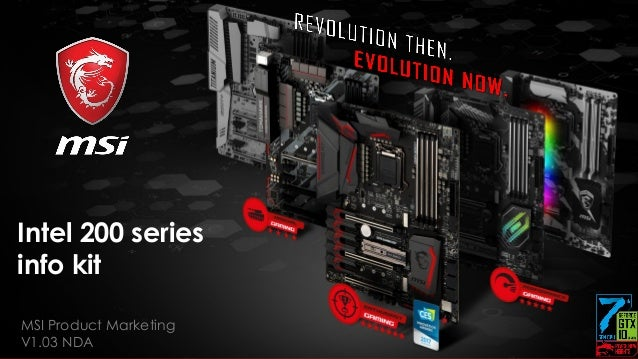 Revolution Then, Evolution Now Meet The MSI Z270 Gaming