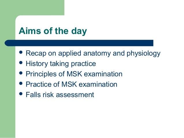 Msk assessment level 6