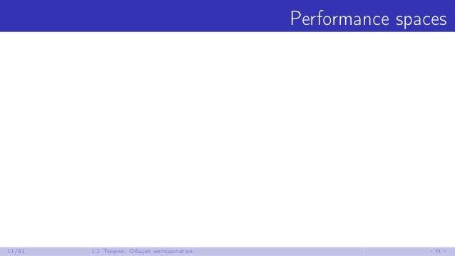 Performance spaces 11/81 1.2 Теория: Общая методология