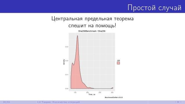 Простой случай Центральная предельная теорема спешит на помощь! 30/81 1.4 Теория: Количество итераций