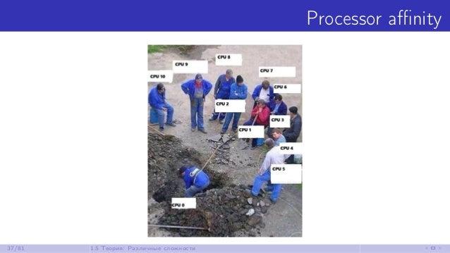 Processor affinity 37/81 1.5 Теория: Различные сложности