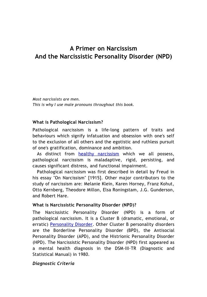 famous case study of narcissistic personality disorder
