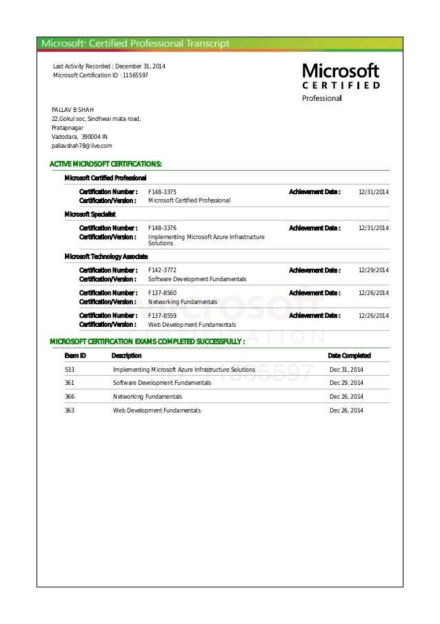 Microsoft Certification Tracker Yolarnetonic