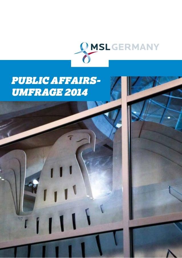 PUBLIC AFFAIRS-UMFRAGE  2014