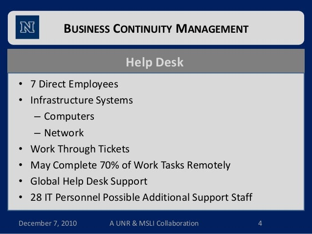 thesis on business continuity management