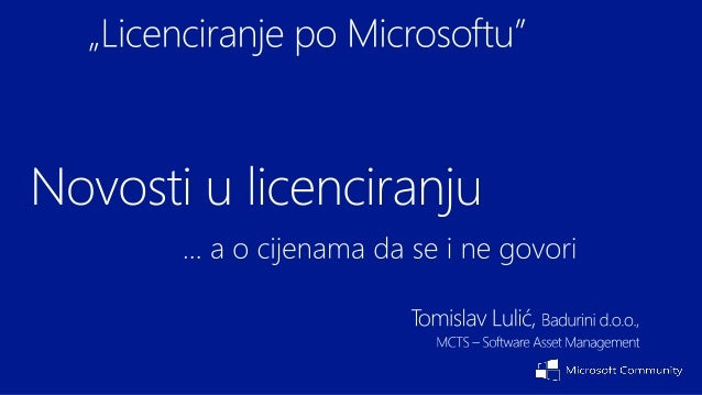 Windows 8Licenciranje, razlike u verzijamaWindows Server 2012, VDILicenciranje najprodavanijeg servera, što je novo, VDI l...