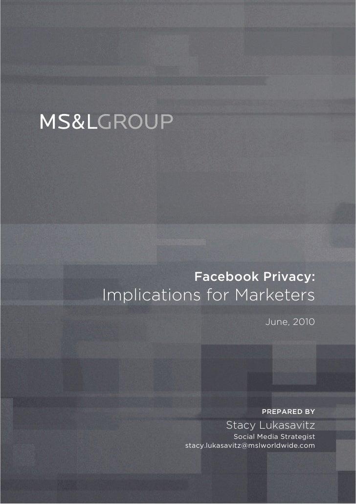 MS&L Facebook & Privacy