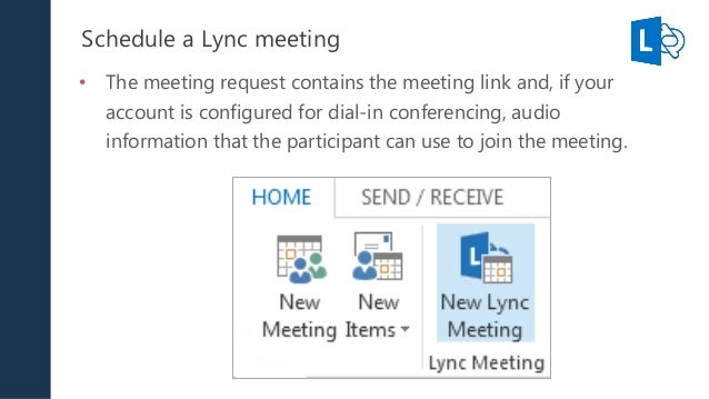 lync schedule online meeting delegate Issue you are not able to schedule a microsoft lync 2010 meeting or conference call because either you cannot create meeting requests or others cannot receive them.