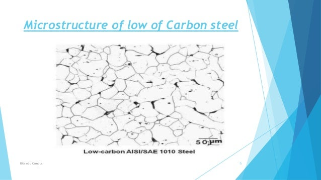 Microstructure study of steel