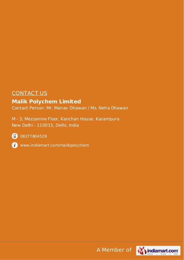 M/S Malik Polychem Limited, New delhi, Industrial Processing Equipmen…