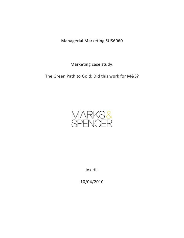 Managerial	  Marketing	  SUS6060	                                               	                 ...