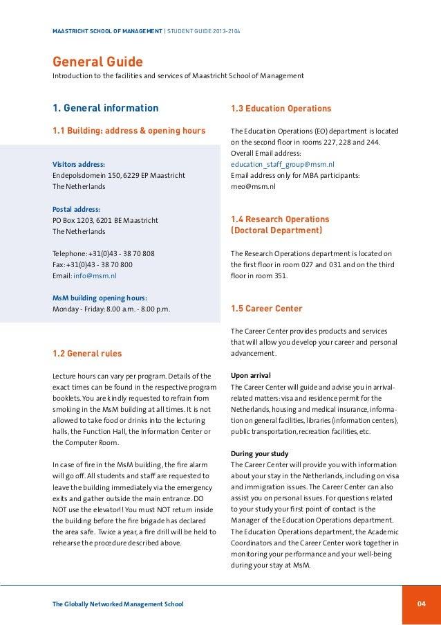 MsM student handbook 2013-2014