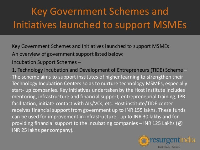 MSME Financing - Key Government Schemes and Initiatives ...