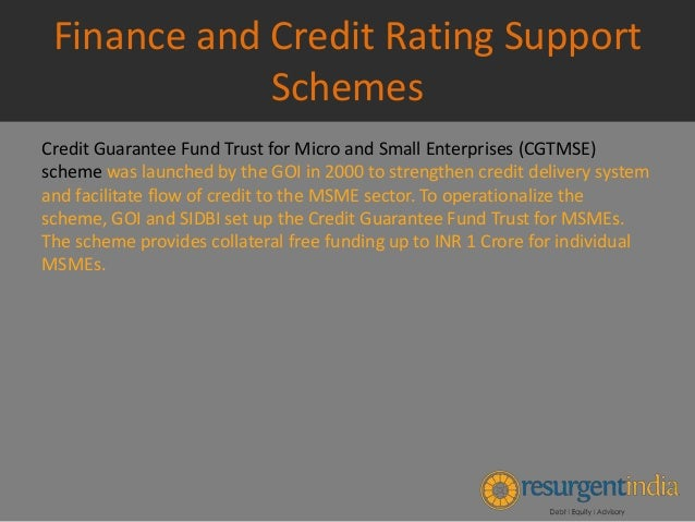 Msme Manufacturing Support Schemes And Finance And
