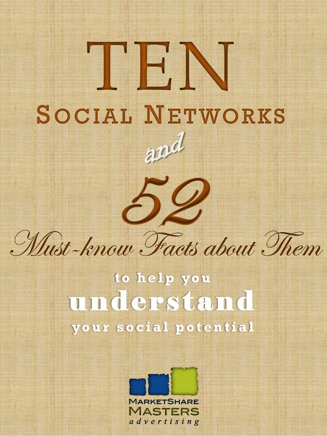 TEN S O C I A L N E T WO R K S        52 about ThemMust-know Facts         t o h e l p yo u    understand    your social p...