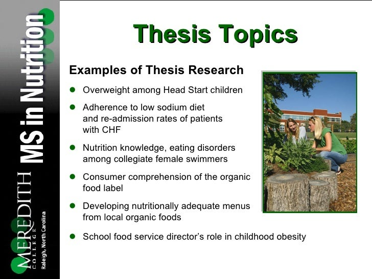 Best thesis topics for nutrition