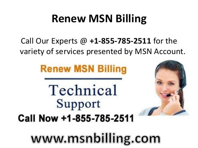 MSN Billing Support | +1-855-785-2511 | MSN Help