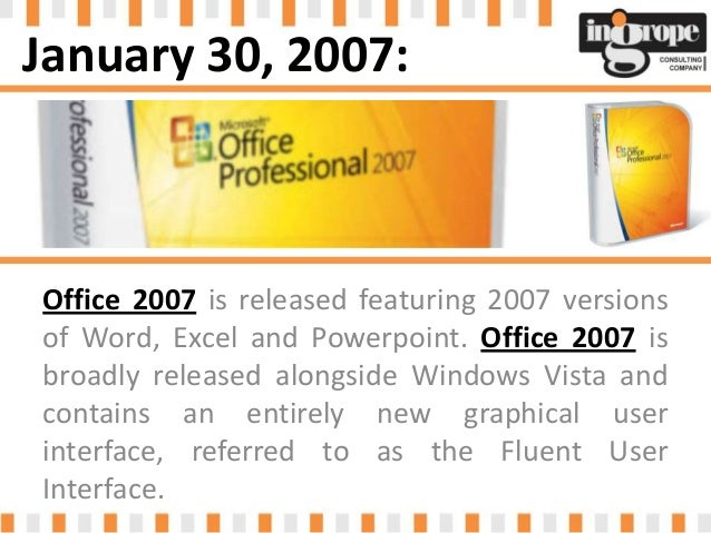 Office pro 2007 includes word excel