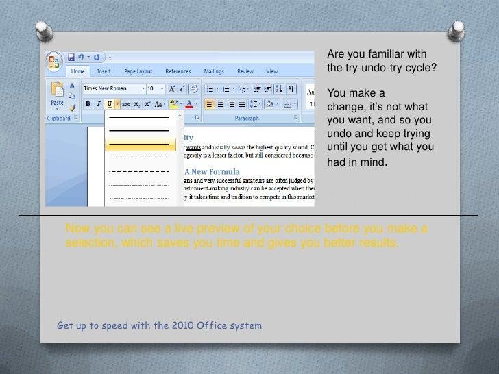 Microsoft Office 2010 Teacher Training Presentation v 2