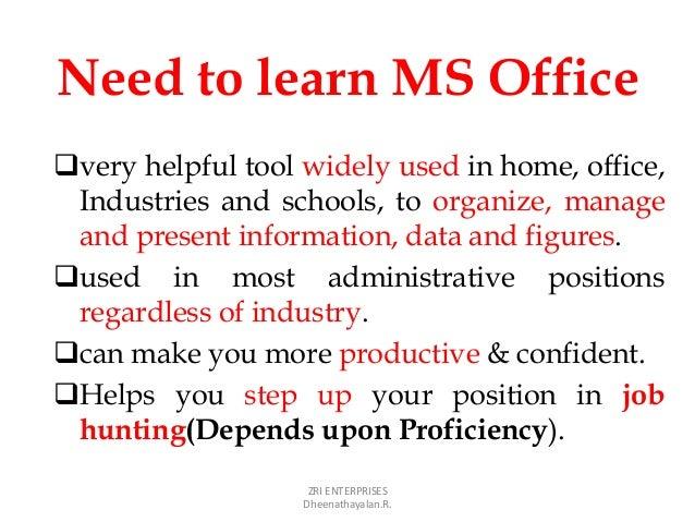 ms office job
