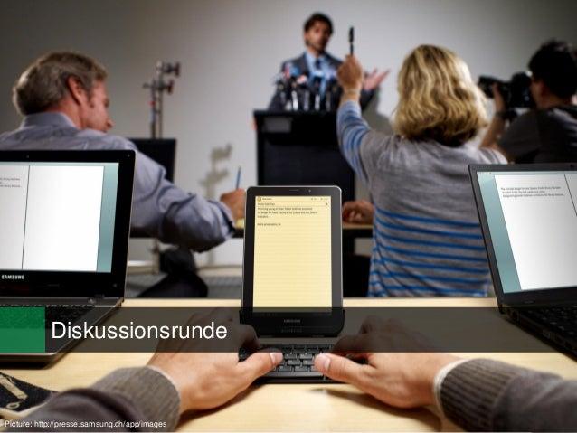 27Picture: http://presse.samsung.ch/app/images Diskussionsrunde