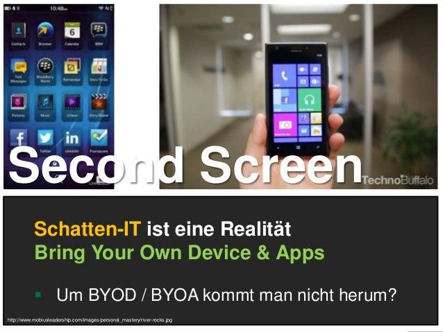 5 Schatten-IT ist eine Realität Bring Your Own Device & Apps  Um BYOD / BYOA kommt man nicht herum? http://www.mobiuslead...